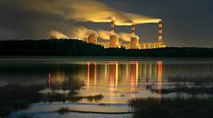 Industria chimica (Zz manipulation) Tags: art ambrosioni zzmanipulation industria chimica stabilimento toscana mare sera gas fumi tramonto