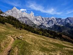 Filmooz (samleer) Tags: austria europe autumn daytime nature mountain mountains alps hiking followthepath aroadlesstraveled hike dog sky