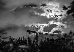 Cranes (svpnoxy) Tags: night crane dramatic