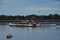 PS Waverley 2 (John A King) Tags: woolwich dusk pswaverley paddlesteamer