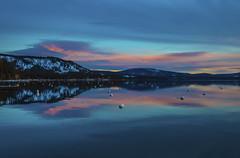 Lake Sunrise (CraDorPhoto) Tags: canon5dsr mountains landscape waterscape lake water calm tranquil clouds sky reflection sunrise dawn morning laketahoe california usa