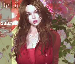 "=DeLa*= new hair ""Saarah"" (=DeLa*=) Tags: dela hair fitted rigged bento mesh materials secondlife secondlifefashion sl slhair style new"