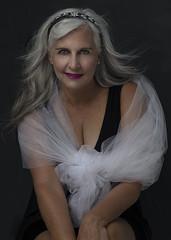 Silver (boni5d) Tags: 40 seniormodel model grey silver pose contemporary female age color