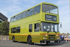 Dublin Bus RH7 (90D1007). (Fred Dean Jnr) Tags: busathacliath dublinbustwotonegreenlivery dublin dublinportrally2015 dublinbus leyland olympian alexander r rh7 90d1007 dublinport september2015 dublinportrally