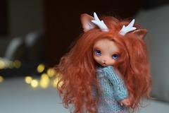 Autumn & Cocoa (Les Kawaiis!) Tags: bjd soom animal kawaii tiny doll