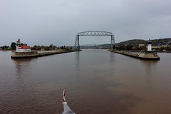 Entering Duluth (ironmike9) Tags: liftbridge bridge lighthouse lakesuperior greatlakes lake waterfront canal port harbor water