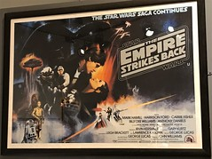 Classic version poster from The Empire Strikes Back at #MayTheToysBeWithYou, Torquay Museum 19.08.17 (Trevor Bruford) Tags: star wars toy figure exhibition torquay museum maythetoysbewithyou