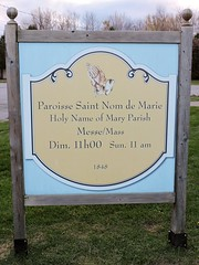 (Will S.) Tags: paroissesaintnomdemarie romancatholicchurch church romancatholic christian mypics statue mary virginmary motherofchrist quyon quebec canada sign