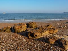 St Helens Beach-EA100643 (tony.rummery) Tags: beach em10 england eveningsun iow isleofwight landscape mft microfourthirds omd olympus rocks sea seascape sthelens unitedkingdom gb