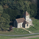 St Peter's Church in Melton Constable - aerial thumbnail