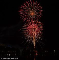 Double Trouble (jimgspokane) Tags: fireworks pyrotechnics spokanewashingtonstate spokaneriver independenceday the4thofjuly