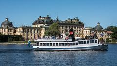 M/S Angantyr arriving at Drottningholm (tonyguest) Tags: ms angantyr drottningholm palace slott lovö lovön stockholm sweden sverige 1909 tonyguest ship boat water scandinavia