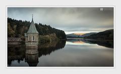 Reach (Stuart Leche) Tags: autumn breconbeacons calm clouds hills lake outdoor pontsticillreservoir reflection scenic serenity stuartleche sunrise trees wales water