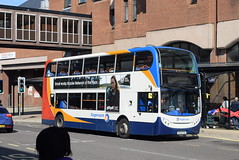SY 19511 @ New Beetwell Street/coach station, Chesterfield (ianjpoole) Tags: stagecoach yorkshire alexander dennis enviro 400 mx09kse 19511 working route 43 new beetwell street chesterfield sheffield centre