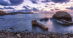 Mikro Kavouri (vipantazi) Tags: sea long exposure greece mikro kavouri canoneos7d hoya nd pro rocks clouds