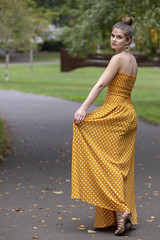 Alexis_StJohns-0002 (Aaron A Baker) Tags: girls oregon women teenagers model portraits cathedral park portland autumn fall yellow dress leafs alexis hoffman