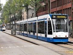 Eén voor één (Peter ( phonepics only) Eijkman) Tags: amsterdam city gvb combino trapkar bn omleiding detour tram transport trams tramtracks trolley rails rail strassenbahn streetcars nederland nederlandse netherlands noordholland holland