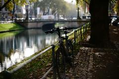 lonely season 3 (Amselchen) Tags: bokeh blur dof depthoffield season autumn fall bicycle street city düsseldorf germany sonyilce7rm2 sony nikon nikkor ainikkr55mmf12