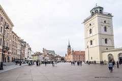 Royal Route and Castle square-Warsaw (doveoggi) Tags: 1941 poland warsaw europe city castle church tourism travel people