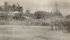 German forces lined up to surrender Herbertshohe, F. S. Burnell,  PXA 2165 (State Library of New South Wales collection) Tags: ww1 worldwarone australia expeditionary force newbritain papua guinea new engagement pacific australian burnell hebertshoe german rabaul