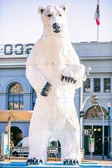 Long View Polar Bear (Thomas Hawk) Tags: america california donkennell ferrybuilding longviewpolarbear sf sfbayarea sanfrancisco sanfranciscobayarea usa unitedstates unitedstatesofamerica westcoast bear polarbear publicart sculpture us lisaadler fav10 fav25