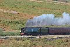 "34081 ""92 Squadron"" (mike_j's photos) Tags: northyorkshiremoors railway steam gala goathland moorgates 34081 battleofbritain 92squadron"