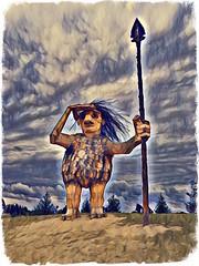 joe (timp37) Tags: joe guardian illinois september 2018 morton arboretum statue sculpture lisle photolab