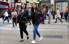 `2409 (roll the dice) Tags: london people fashion streetphotography sad mad fun funny urban unaware unknown england classic uk canon tourism tourists sexy pretty girl portrait stranger candid natural wisdom shops shopping sunny chinese numbers traffic crossing reaction westend w1 oxfordstreet phone busy rush crowd asian surreal leather glasses eyes bus travel transport tube look hole hunt sale