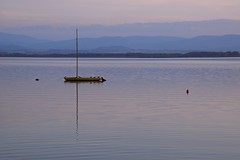summer moods (JoannaRB2009) Tags: jeziorootmuchowskie sunset boat hills mountains sudety opolszczyzna water lake calm evening nature landscape view air layers reflections coast jezioro summer