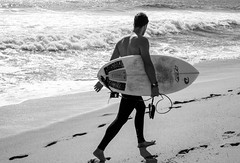 Surfer (Dalliance with Light (Andy Farmer)) Tags: jersey surfing beach ocean monochrome asburypark nj bw surfer shore newjersey unitedstates us