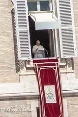 Pope Francis at Vatican Sunday mass (mayekarulhas) Tags: traveling canon italy rome vatican pope