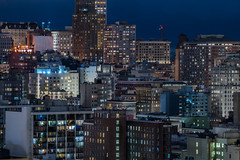 it's fun to stay at the y.m.c.a. (pbo31) Tags: bayarea california nikon d810 fall color night october 2018 boury pbo31 civiccenter sanfrancisco city urban rooftops siemer view over nobhill hotel dark window ymca skyline