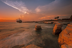 Cyprian sunset (darek_gruszka) Tags: cyprus paphos sun sunset clouds sea long exposure lee filter nikon manfrotto holiday