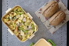 Bento 635 (Sandwood.) Tags: bento lunch lunchbox cooking food meal dish salad bread matjes herring potatoes pescetarian vegetables fish