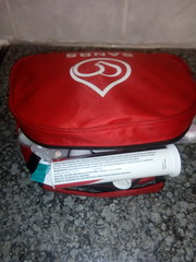 First aid bag (tulisamahote) Tags: firstaidkit medicine homecare personalcare