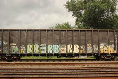 Rb x3, Ich (NJphotograffer) Tags: graffiti graff trackside track railroad rail art freight train bench benching gondola rb ich ichabod yme circlet circle t crew