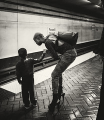 untitled-2-32 (Stevenchen912) Tags: streetphoto streetscene streetcandid candid cadid composition contrast dark subway train station bw
