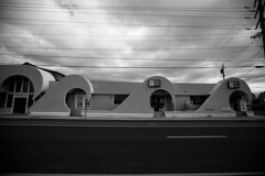 Wave building (michael_pictures) Tags: wavebuilding architecture seasidepark jerseyshore blackandwhite