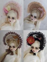 New OOAK bonnets (AyuAna) Tags: bjd ball jointed doll dollfie ayuana design minidesign handmade ooak bonnet sd sd13 sd10 sd16 msd mnf minifee fairyland size lolita style fashion couture