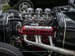 Rocket (PAJ880) Tags: oldsmobile rocket engine v8 hot rod triple carbs lime rock park lakeville ct headers