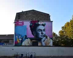 Frida Kahlo (HBA_JIJO) Tags: streetart urban graffiti pochoir stencil art france hbajijo wall mur painting peinture fridakahlo portrait urbain zabou zabousmith charactere muralisme paris94