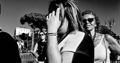 I say hello and you say goodbye........ (Baz 120) Tags: candid candidstreet candidportrait city contrast street streetphotography streetportrait strangers sony a7 rome roma europe women monochrome monotone mono noiretblanc bw blackandwhite urban life portrait people italy italia grittystreetphotography decisivemoment