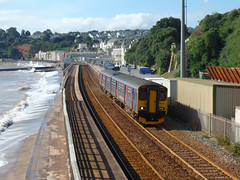 150238 Dawlish (1) (Marky7890) Tags: gwr 150238 class150 sprinter 2f25 dawlish railway devon rivieraline train