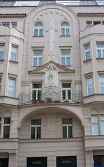 Prague house fronts (4) (Teelicht) Tags: altstadt architektur czechrepublik europa europe fassade josefov prag prague praha tschechien architecture historicdistrict housefront oldcity oldtown