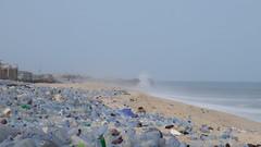 wave of blue (k-os) Tags: accra blue beach jamestown africa ghana bottel waste infinity ocean sand sea