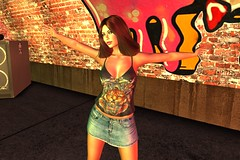 Rock and Roll (Jessica Jane 2017) Tags: second life sl virtual model women woman ladies lady mini skirt party rock roll music clubbing dancing
