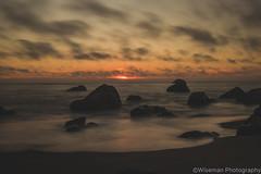 Calm sea and rocks (Wiseman-Photography) Tags: california ocean landscape longexposure long exposure oceanscape scape land waves sunset oceansunset oceanrocks rocks muscleshell