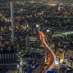 Ikebukuro (B Lucava) Tags: tokyo ikebukuro expressway longexposure city cityscape night nightscape lighttrail urban skyline chimney sunshine60