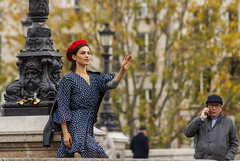 Unexpected meeting with @linacstyles in Paris (Claudio Nichele (@jihan65 on Twitter)) Tags: paris photo modele shootinf france women femme pontneuf portrait
