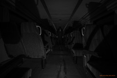 The conductor (MIKAEL82KARLSSON) Tags: conductor konduktör tåg train sverige sweden dalarna gasmask suit svartvit svartvitt bw abandoned decay empty sony a7ll mikael82karlsson